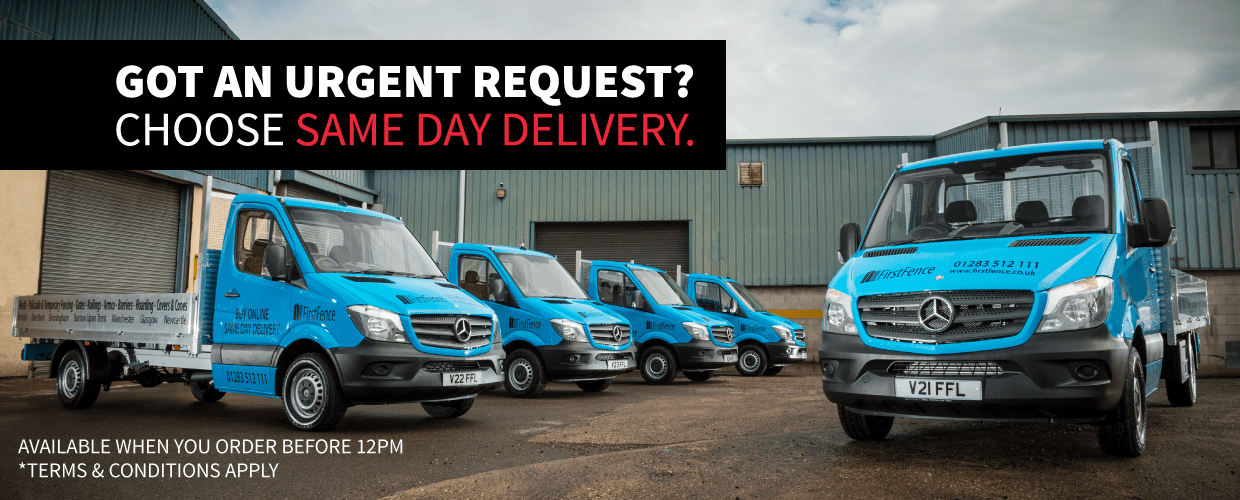 We offer a range or dlievery options, including Same and Next Day Delivery