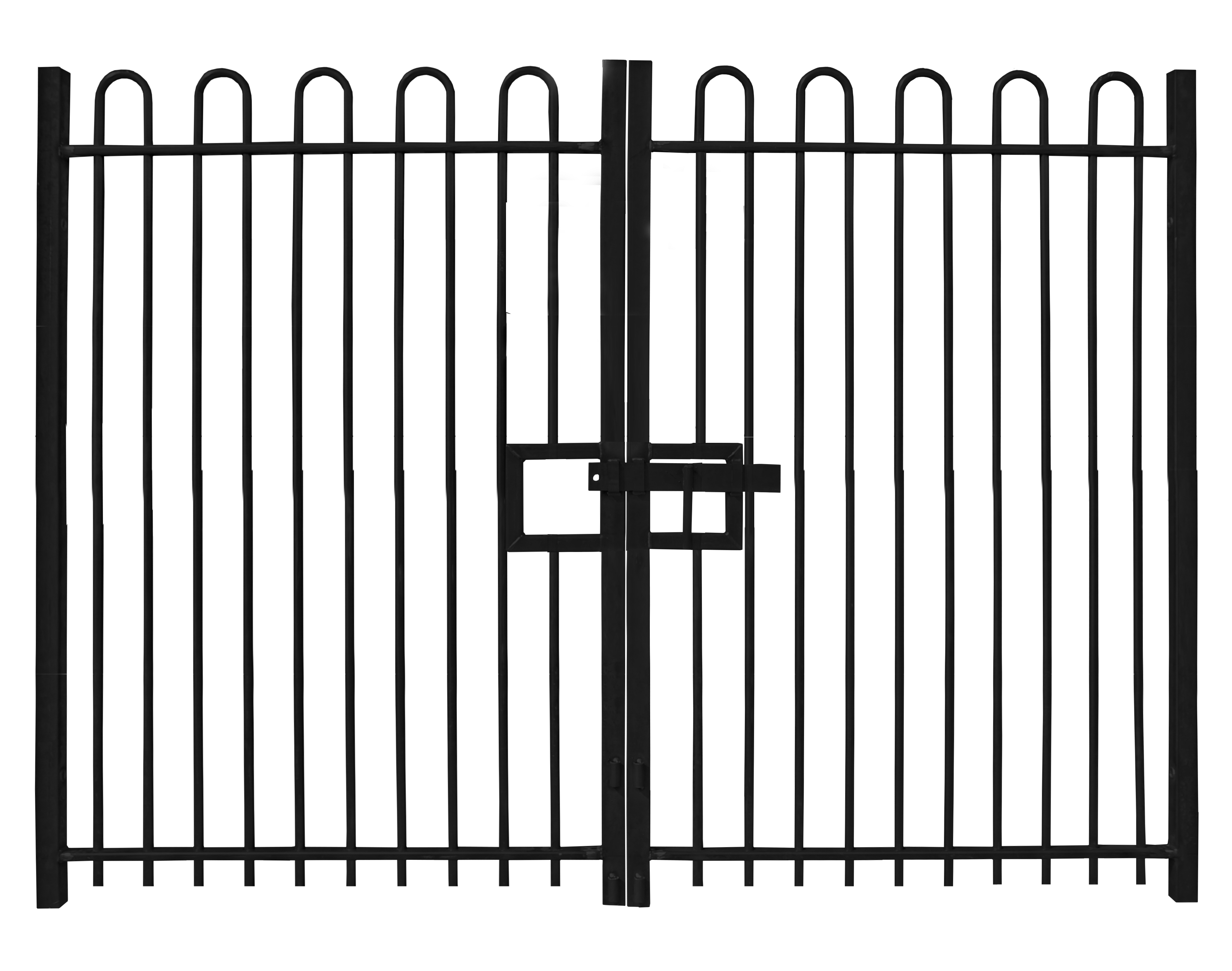 Self-Raking Compatible Bow Top Gates