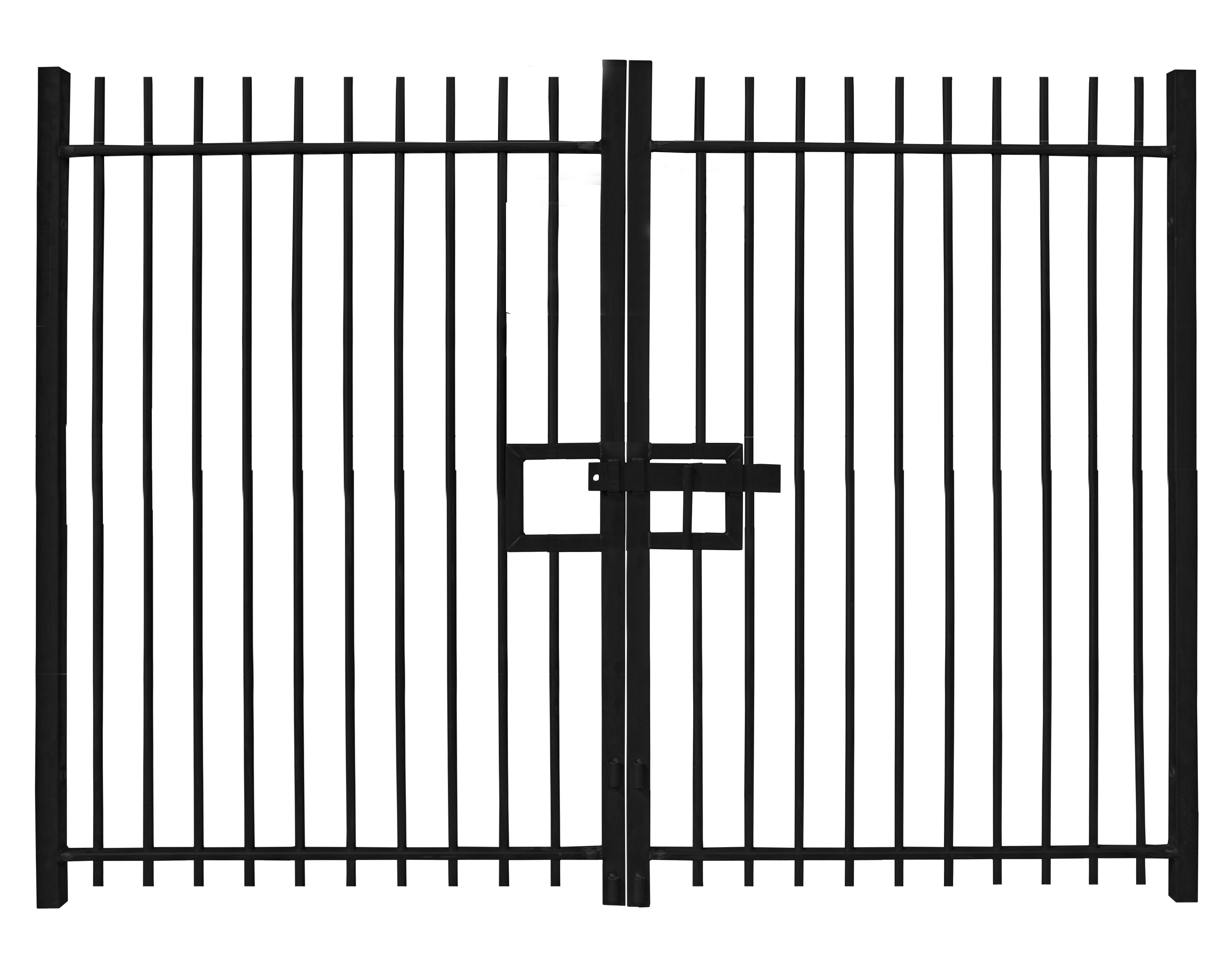 Self-Raking Compatible Vertical Bar Gates