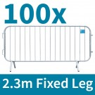 First Fence 2.3m Crowd Control Barriers Fixed Leg Package Deal 100