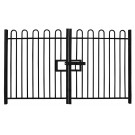 1.0m high Double Leaf Standard Bow Top Railing Gate