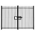 Vertical Bar Double Leaf Gate
