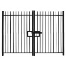 2.1m high Double Leaf Standard Vertical Bar Railing Gate