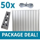 2.4m High Steel Hoarding Package Deal