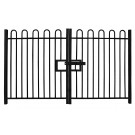 2.0m high Double Leaf Standard Bow Top Railing Gate