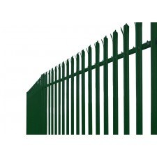 2.4m High 'W' Section Powder Coated Palisade Security Fencing